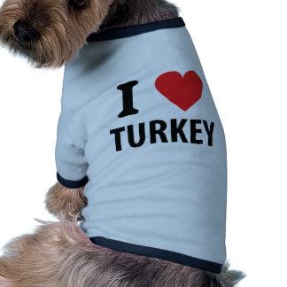 I love turkey doggie tshirt