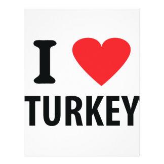 I love turkey custom flyer