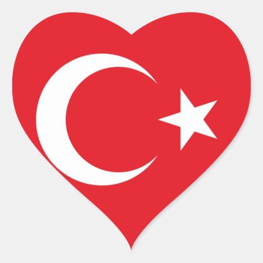 I love Turkey Heart Sticker