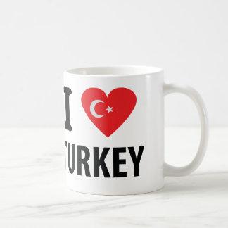 I love turkey icon basic white mug