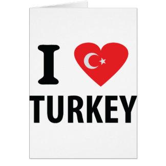 I love turkey icon card