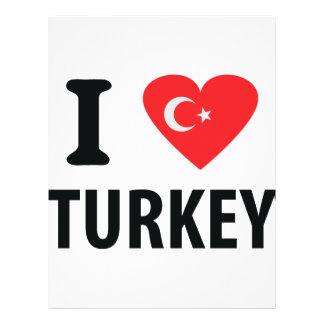 I love turkey icon flyers