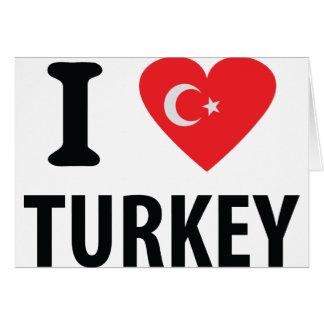 I love turkey icon greeting card