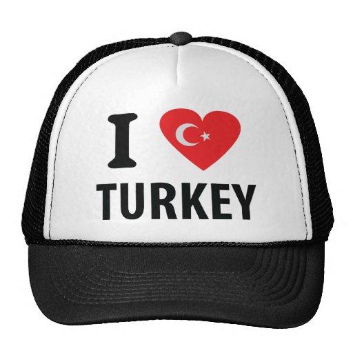 I love turkey icon trucker hat