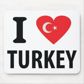 I love turkey icon mouse pad