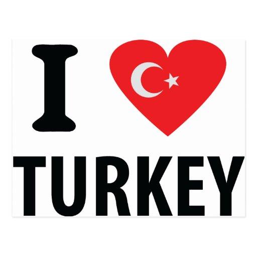 I love turkey icon post cards