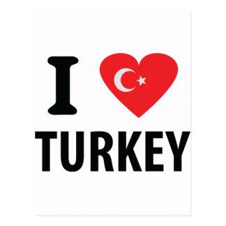 I love turkey icon postcard