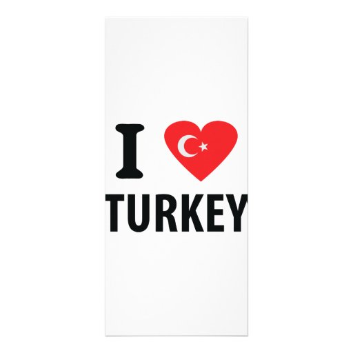 I love turkey icon customized rack card