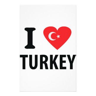 I love turkey icon custom stationery