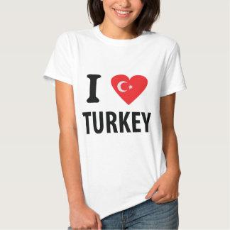 I love turkey icon tees