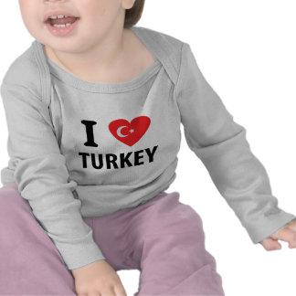 I love turkey icon tee shirts