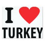 I love turkey personalized announcement