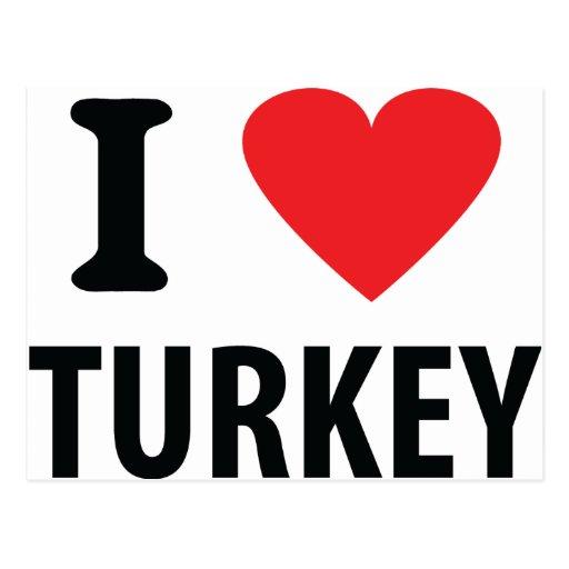 I love turkey postcards