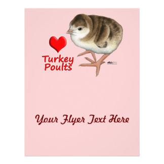 I Love Turkey Poults! 21.5 Cm X 28 Cm Flyer