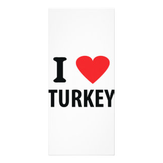 I love turkey personalized rack card