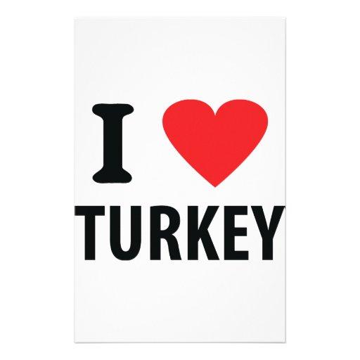 I love turkey stationery