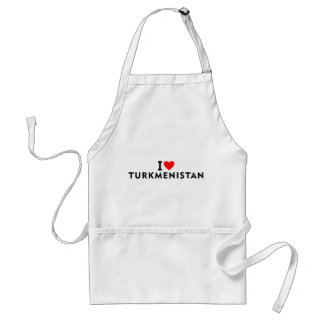 I love Turkmenistan country like heart travel tour Standard Apron
