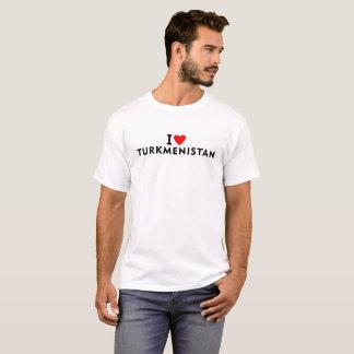 I love Turkmenistan country like heart travel tour T-Shirt