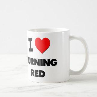 I Love Turning Red Classic White Coffee Mug