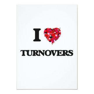 I love Turnovers 13 Cm X 18 Cm Invitation Card
