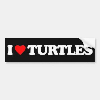 I LOVE TURTLES BUMPER STICKERS
