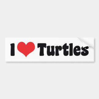I Love Turtles Bumper Sticker