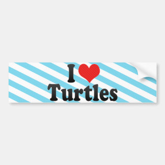 I Love Turtles Bumper Sticker