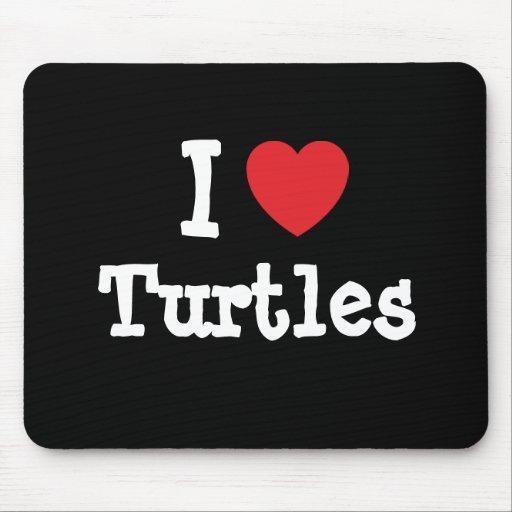 I love Turtles heart custom personalised
