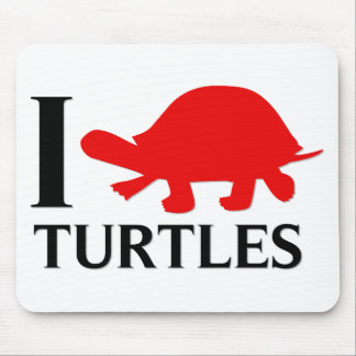I Love Turtles Mouse Mat