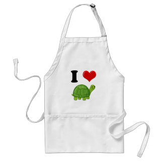 I Love Turtles Standard Apron