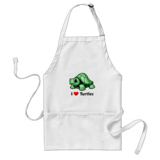 I love Turtles Standard Apron