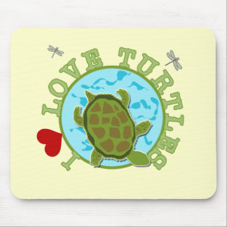 I Love Turtles Tshirts and Gifts Mousepad