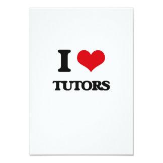 I love Tutors 9 Cm X 13 Cm Invitation Card