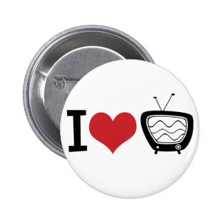 I Love TV 6 Cm Round Badge