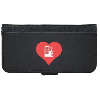 I Love Tv Stations Design iPhone 6 Wallet Case