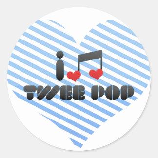 I Love Twee Pop Round Sticker