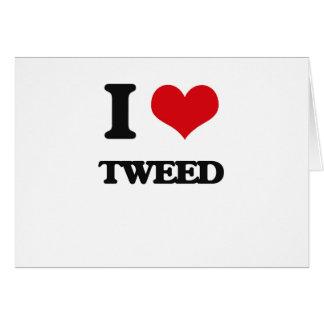 I love Tweed Greeting Card