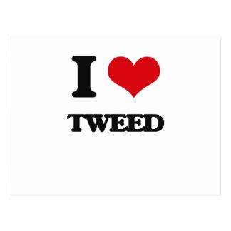 I love Tweed Postcard
