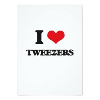 """I love Tweezers 5"""" X 7"""" Invitation Card"""