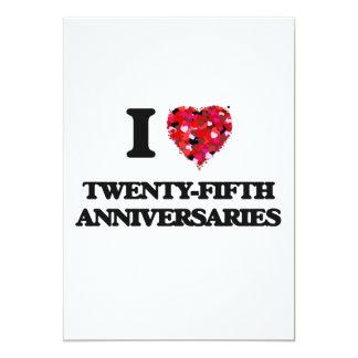 I love Twenty-Fifth Anniversaries 13 Cm X 18 Cm Invitation Card