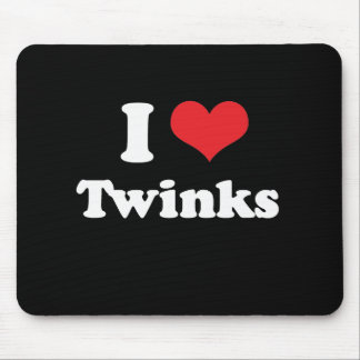 I LOVE TWINKS - .png Mouse Pads