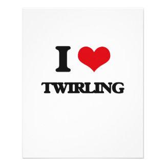I love Twirling 11.5 Cm X 14 Cm Flyer