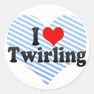 I Love Twirling Round Sticker