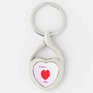 I Love... Twisted Heart Key Ring