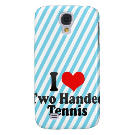 I love Two Handed Tennis Galaxy S4 Covers