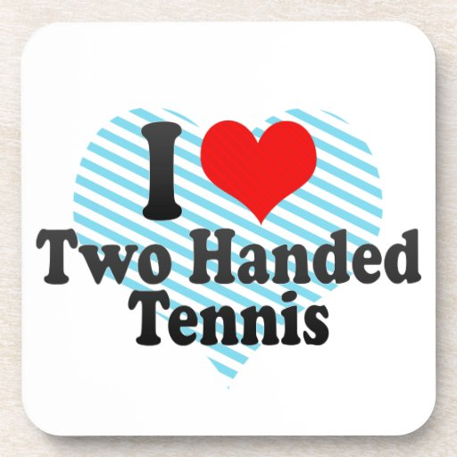 I love Two Handed Tennis Beverage Coasters