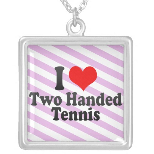 I love Two Handed Tennis Pendant