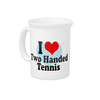 I love Two Handed Tennis Drink Pitcher