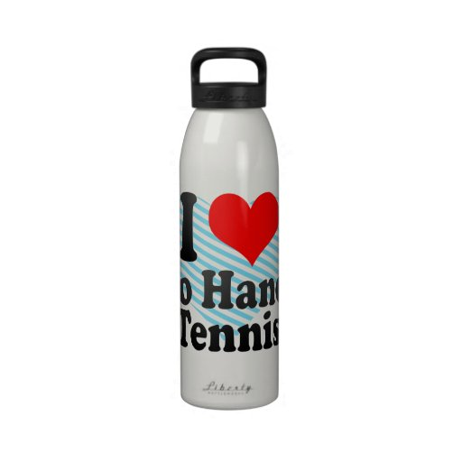 I love Two Handed Tennis Reusable Water Bottle
