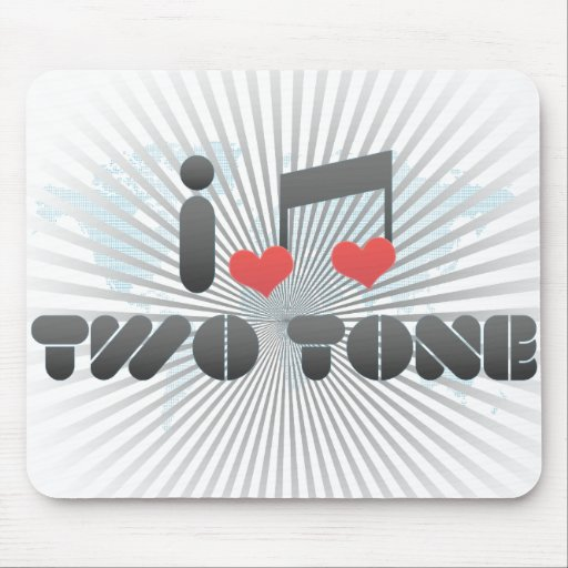 I Love Two Tone Mouse Pad